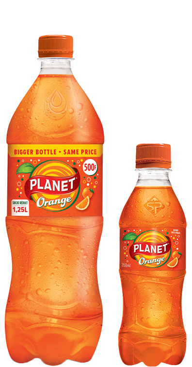 Boisson gazeuse Planet orange