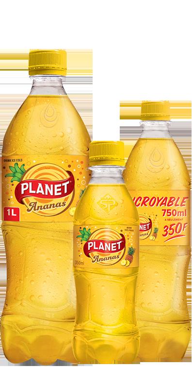 Boisson gazeuse PLANET Ananas