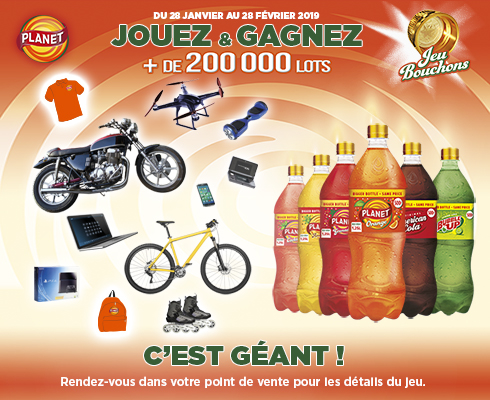 PLANET BOUCHONS Gagnants