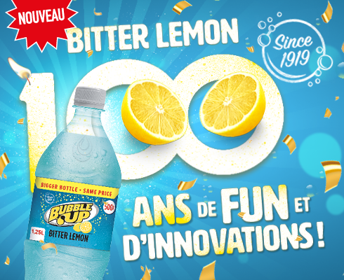 Bubble Up Bitter Lemon 100 years
